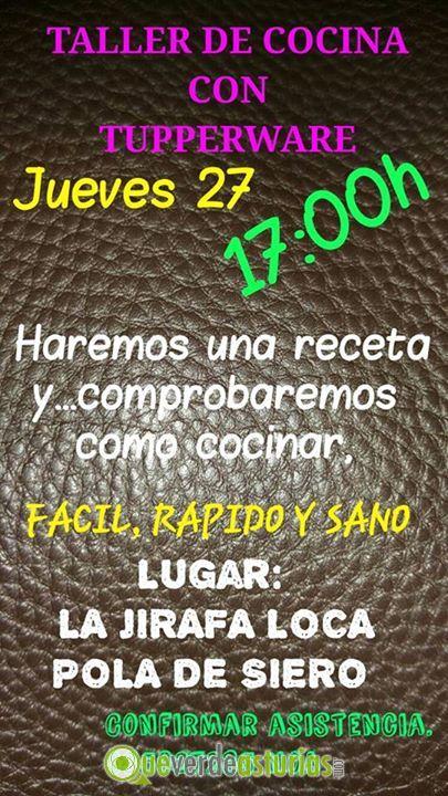 Taller de cocina tupperware cursos y charlas en siero - Cursos cocina asturias ...