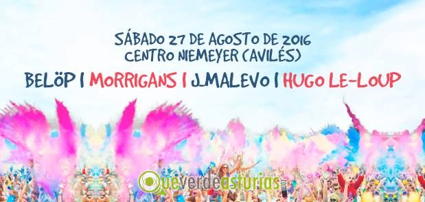 holi party niemeyer 2016 fiestas en avil s asturias. Black Bedroom Furniture Sets. Home Design Ideas
