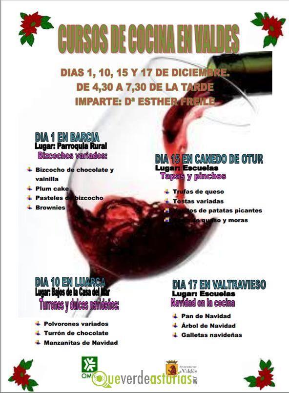 Curso navidad en la cocina cursos y charlas en valds - Cursos cocina asturias ...