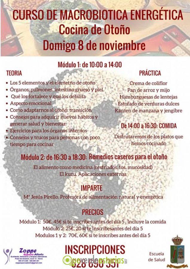 Curso de macrobiotica energ tica cocina de oto o - Cursos cocina asturias ...