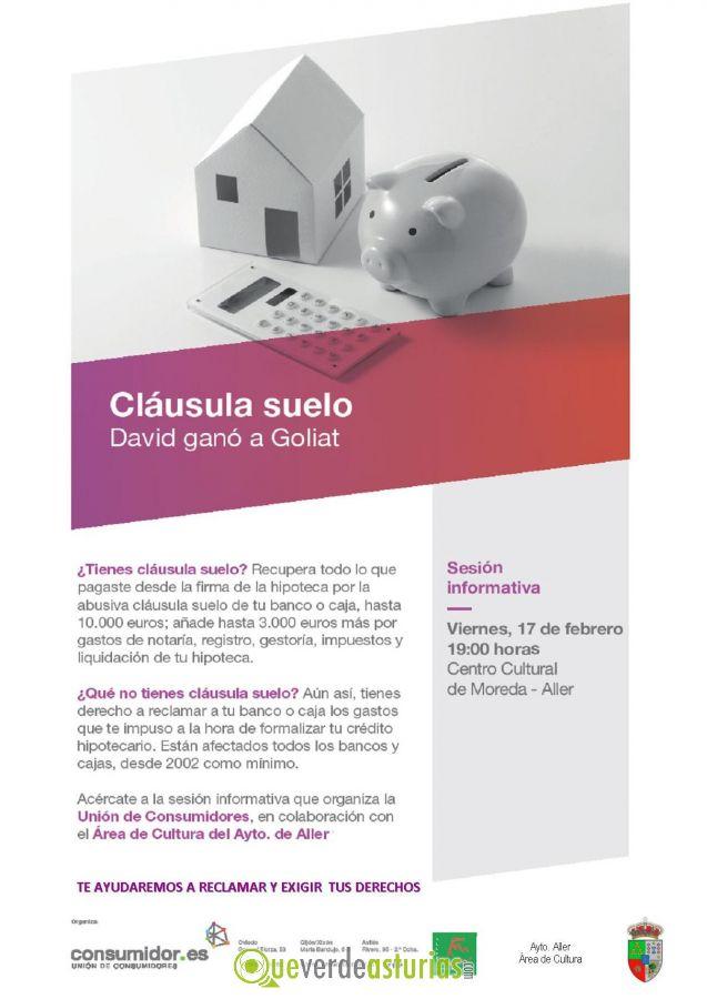 Sesi n informativa cl usula suelo cursos y charlas en for Clausula suelo asturias