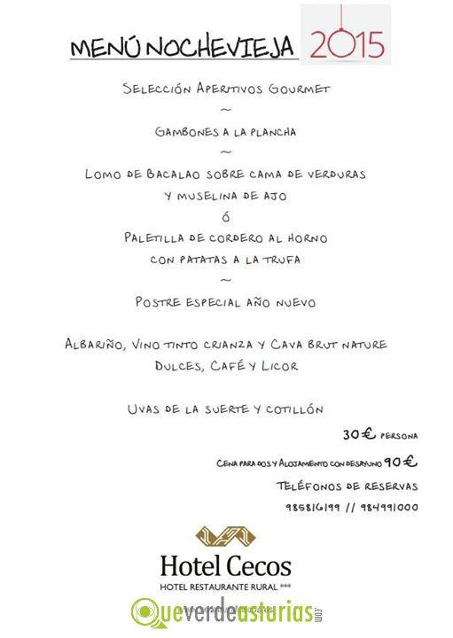 Men nochevieja 2014 hotel cecos jornadas gastron micas - Menu cena de nochevieja ...