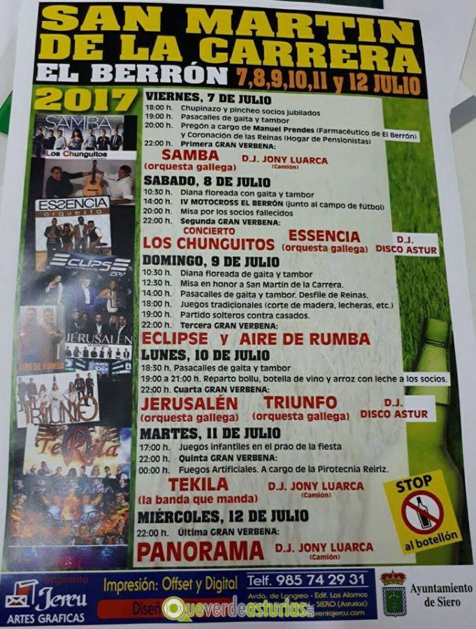 Fiestas de san mart n de la carrera el berr n 2017 - El tiempo en siero asturias ...