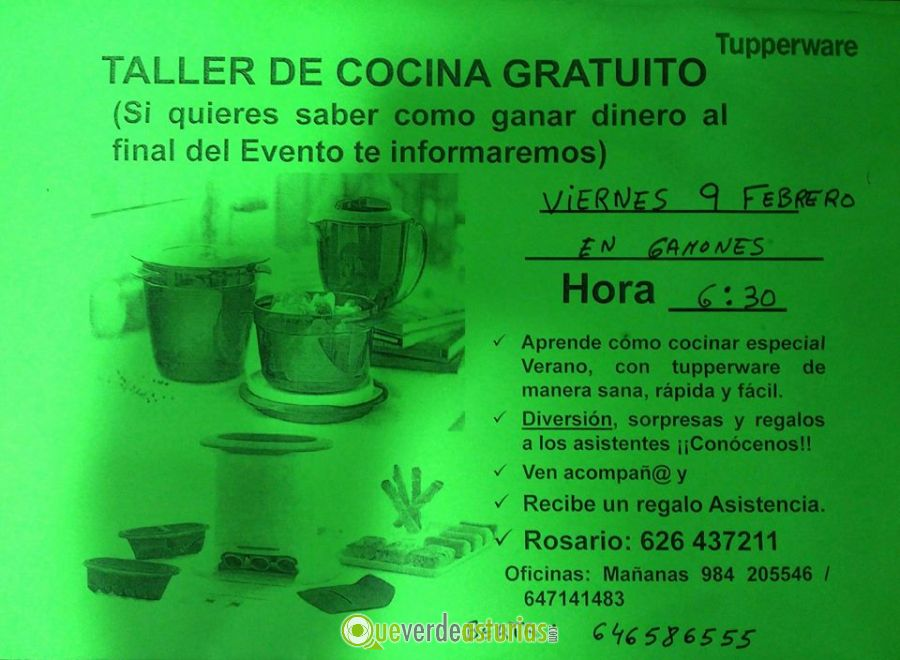 Taller de cocina gratuito en gamones cursos y charlas en - Cursos cocina asturias ...