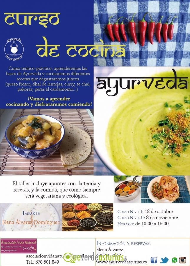 Curso te rico pr ctico de cocina ayurveda cursos y - Cursos cocina asturias ...
