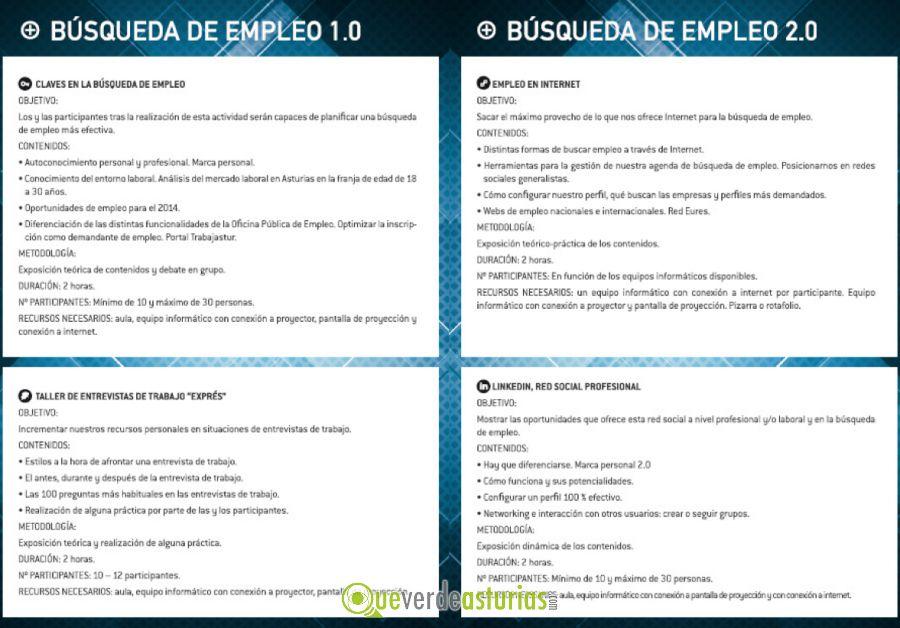 Talleres de b squeda de empleo cursos y charlas en el - Oficina de empleo asturias ...