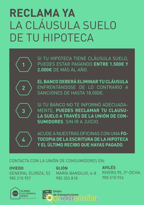 C mo eliminar la cl usula suelo de tu hipoteca cursos y for Clausula suelo asturias