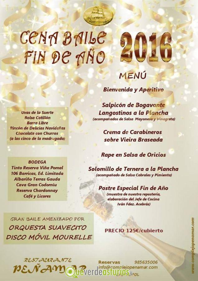 Cena baile nochevieja 2016 en restaurante pe amar - Menu cena de nochevieja ...