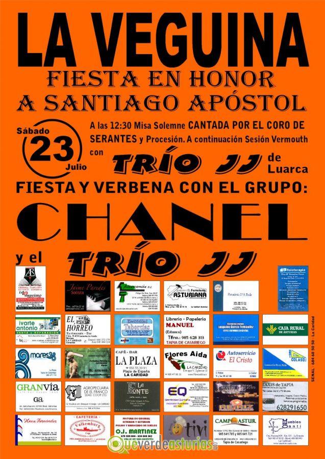 Fiesta de santiago ap stol en la veguina 2016 fiestas en for Conciertos en santiago 2016