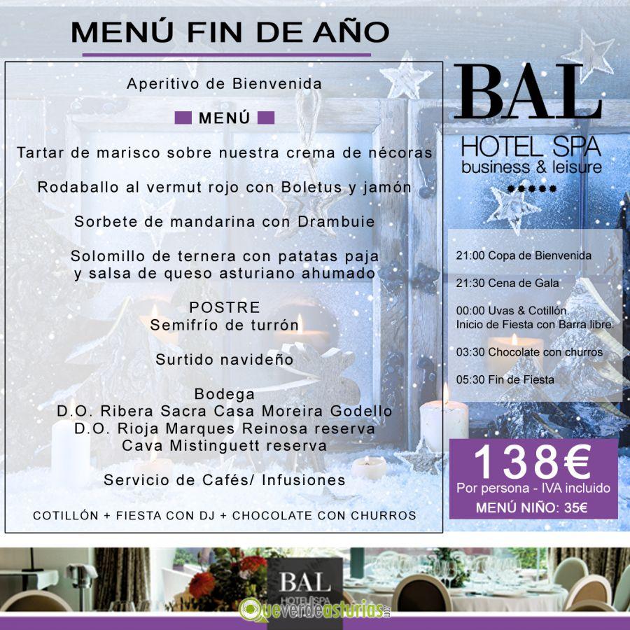 Nochevieja 2017 en bal hotel spa fiestas en villaviciosa - Menu cena de nochevieja ...