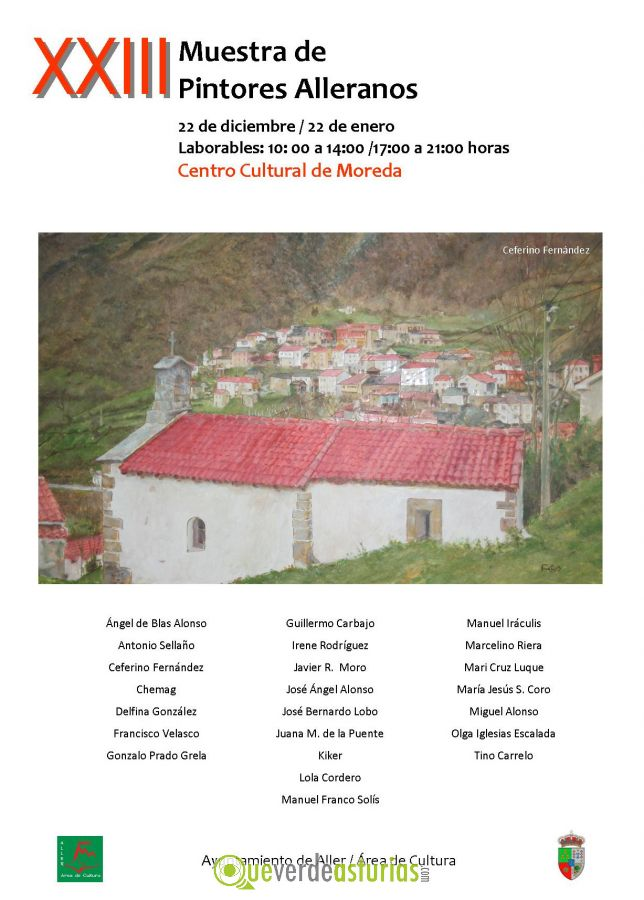 Xxiii muestra de pintores alleranos 2014 2015 - Pintores en asturias ...