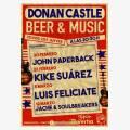 Kike Suárez en concierto en Donan Castle