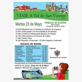 Viaje a Val de San Vicente desde Castropol