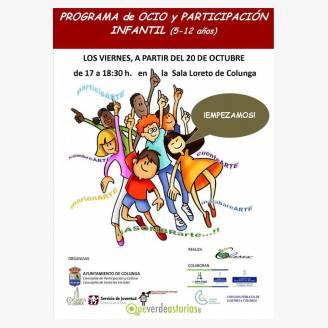 Programa de Ocio y Participación Infantil en Colunga