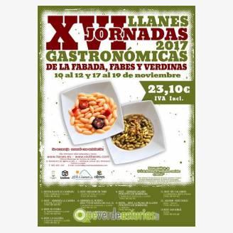 XVI Jornadas Gastronómicas de la Fabada, Fabes y Verdinas de Llanes 2017