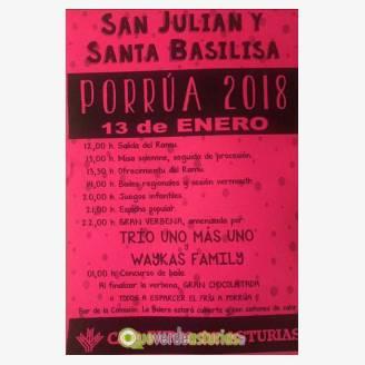 Fiesta de San Julián y Santa Basilisa en Porrúa 2018