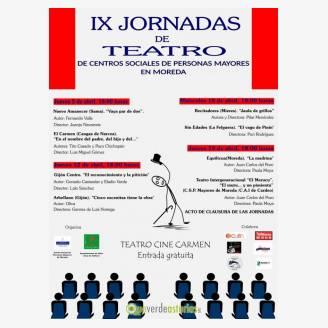 IX Jornadas de Teatro de Centros Sociales de Personas Mayores en Moreda 2018