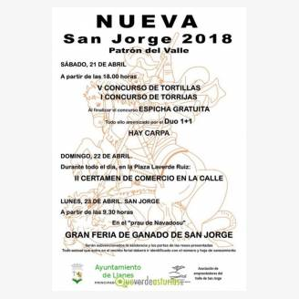 Fiestas de San Jorge 2018 en Nueva de Llanes