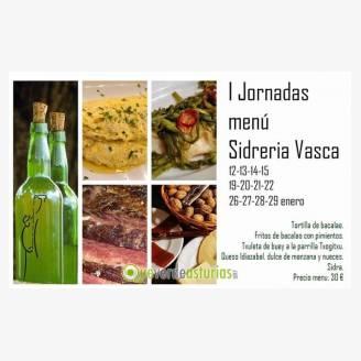 I Jornadas del Menú de Sidrería Vasca en La Magaya