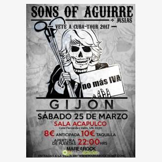 Sons of Aguirre en concierto en Gijón