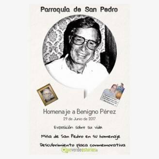 Homenaje a Don Benigno Pérez Silva - Parroquia de San Pedro