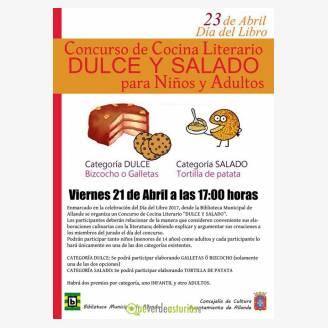 Concurso de Cocina Literario Dulce y Salado para niños y adultos