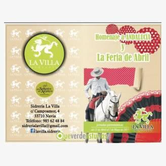 Homenaje a Andalucía y Feria de Abril en Sidrería La Villa