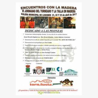 Encuentros con la madera - VI Jornadas del Torneado y la Talla en Madera - Lugones 2017