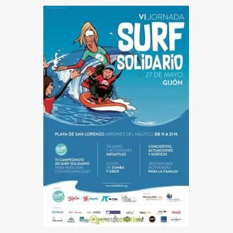 VI Jornada de Surf Solidario Gijón 2017