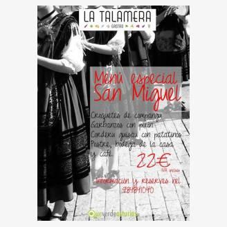 Menú Especial San Miguel en La Talamera Gastro 2017