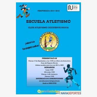 Presentación Club Atletismo Occidente - Navia 2017