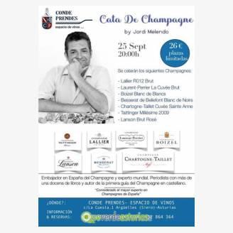 Cata de Champagne by Jordi Melendo - Conde Prendes Espacio de Vinos