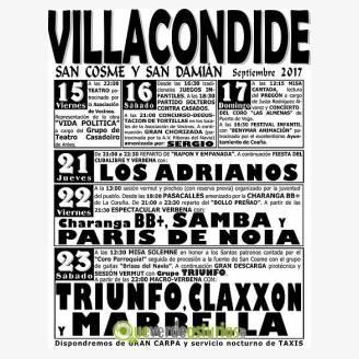 Fiestas de San Cosme y San Damián Villacondide 2017