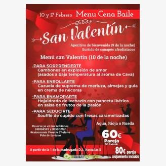 Cena - Baile de San Valentín 2018 en el Prau La Chalana