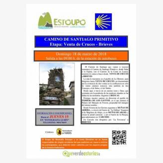 Camino de Santiago Primitivo con el Grupo de Montaña Estoupo - Etapa: Venta de Cruces - Brieves