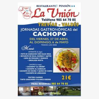 Jornadas Gastronómicas del Cachopo 2018 en Restaurante La Unión
