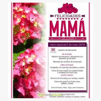 Menú del Día de la Madre 2018 en Hostería de Torazo