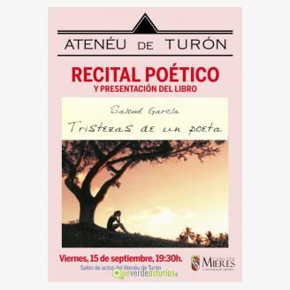 """Recital Poético y Presentación del Libro """"Tristezas de un Poeta"""""""