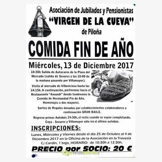 COMIDA FIN AÑO EN AMANDI DE JUBILADOS Y PENSIONISTAS VIRGEN DE LA CUEVA DE PILOÑA