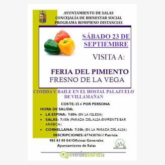 Visita a la Feria del Pimiento - Fresno de La Vega 2017