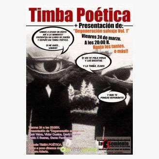 """Timba Poética en La Semiente + Presentación de """"Degeneración salvaje Vol.1"""""""