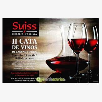 II Cata de Vinos de Cangas y Otros en Sidrería Parrilla Suiss