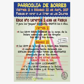 Fiestas en Honor a la Virgen de los Dolores 2017 en Borres