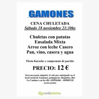 Cena Chuletada en Gamones