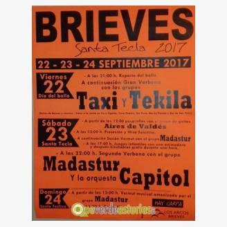 Fiestas de Santa Tecla Brieves 2017