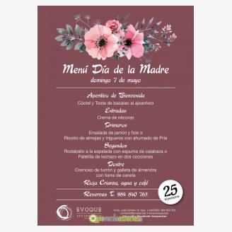 Menu Día de la Madre 2017 Evoque