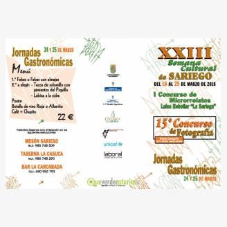 XXIII Semana Cultural de Sariego 2018