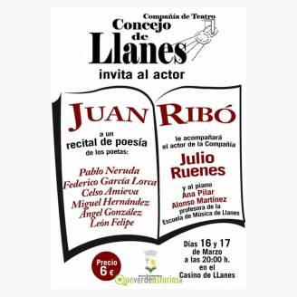 """Recital poético """"Grandes Poetas Universales"""" en Llanes"""