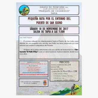 Pequeña ruta por el entorno del Puerto de San Isidro
