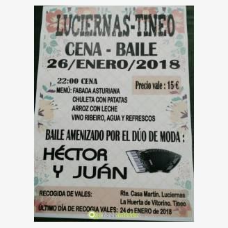 Cena-baile en Luciernas - Tineo